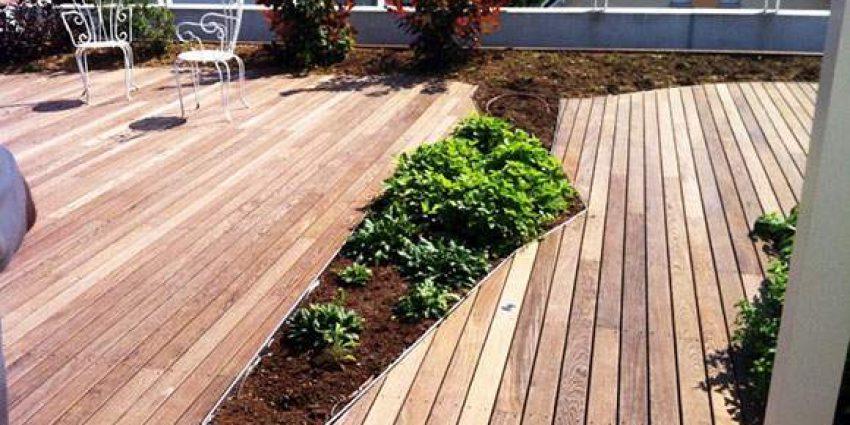 Construction d'une terrasse en bois