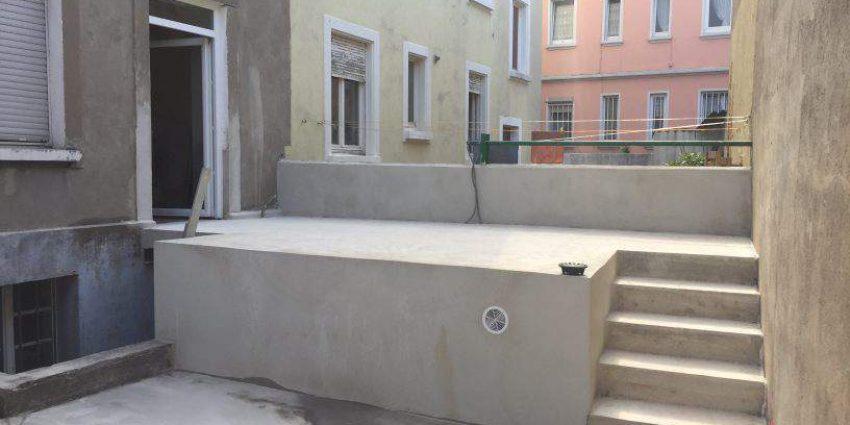 Réalisation d'une terrasse extérieure