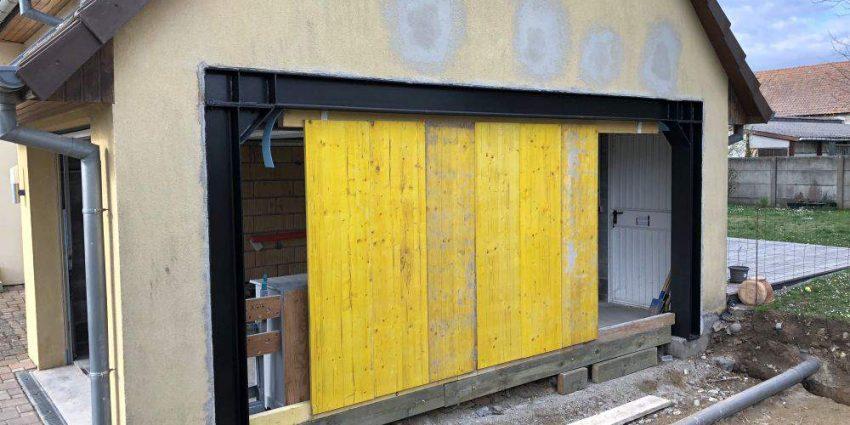 Ouverture latérale d'un garage